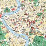 Mappa Roma Centro con la Lista dei Monumenti da Conservare