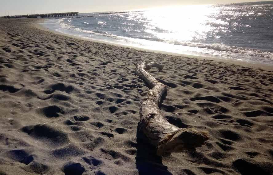 spiaggia libera in Largo delle Sirene ad Ostia